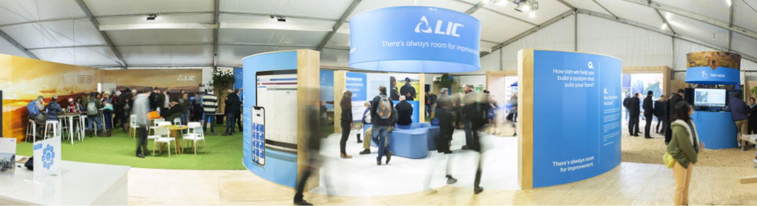 LIC fieldays exhibit panorama image