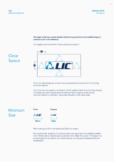 LIC Annual report layout