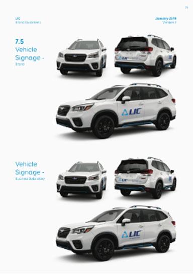 LIC Car branding image